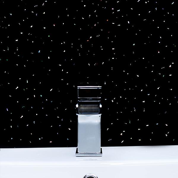 Black Sparkle Cladding Bathroom Wall Panels