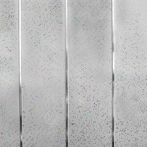 White Sparkle Waterproof Bathroom Cladding Panels With Twin - White sparkle bathroom cladding