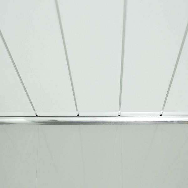 Gloss White Chrome Strip Bathroom Cladding Panels Kitchen