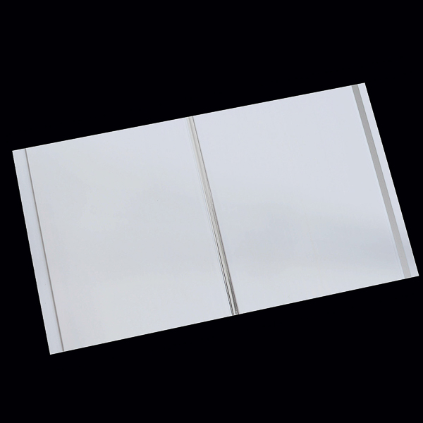 23 Decorative Bathroom Panels Gloss White With Twin Chrome For Wall Ceiling