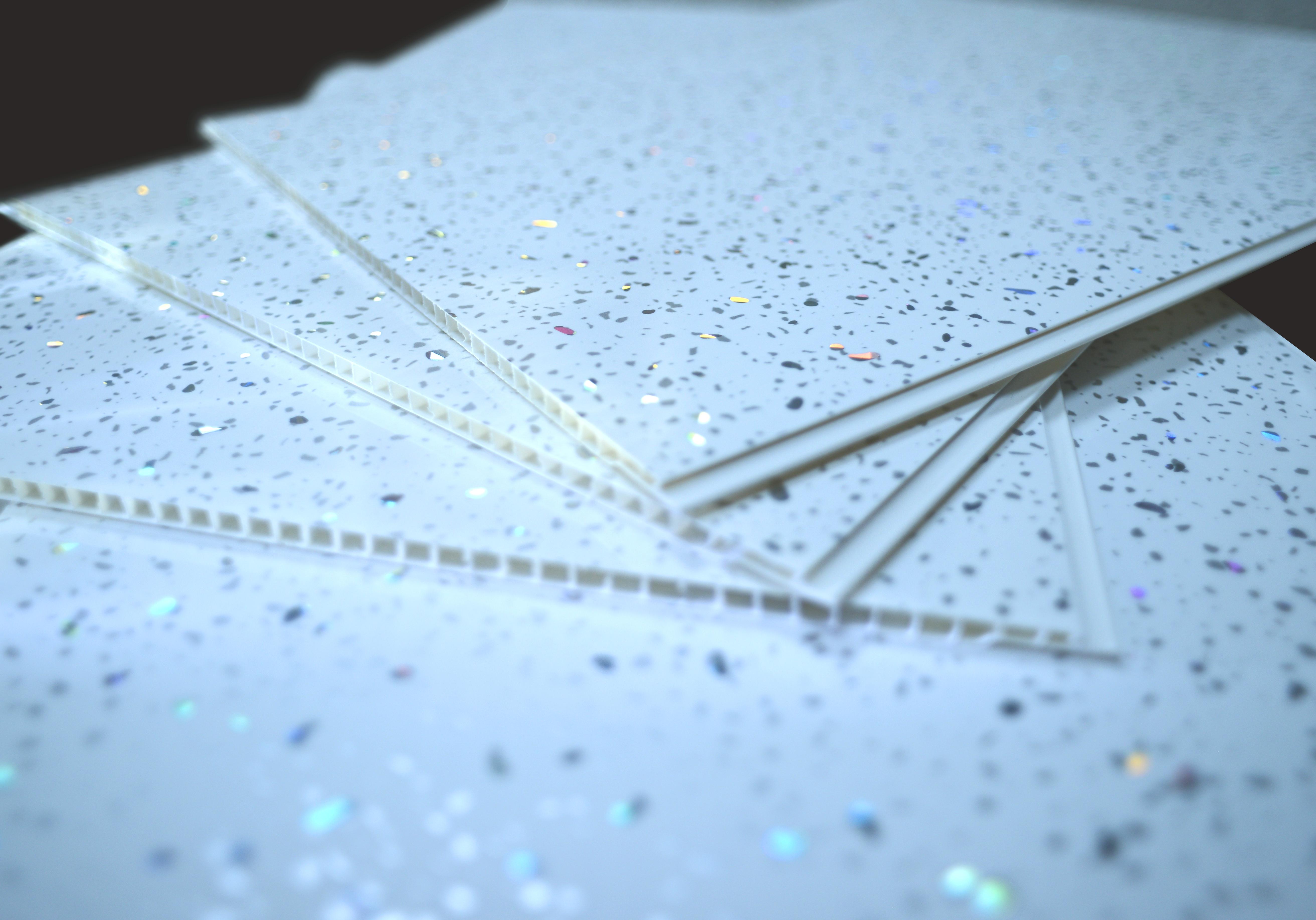 Details about Platinum White Sparkle PVC Bathroom Cladding Ceiling Panels Shower Wet Wall