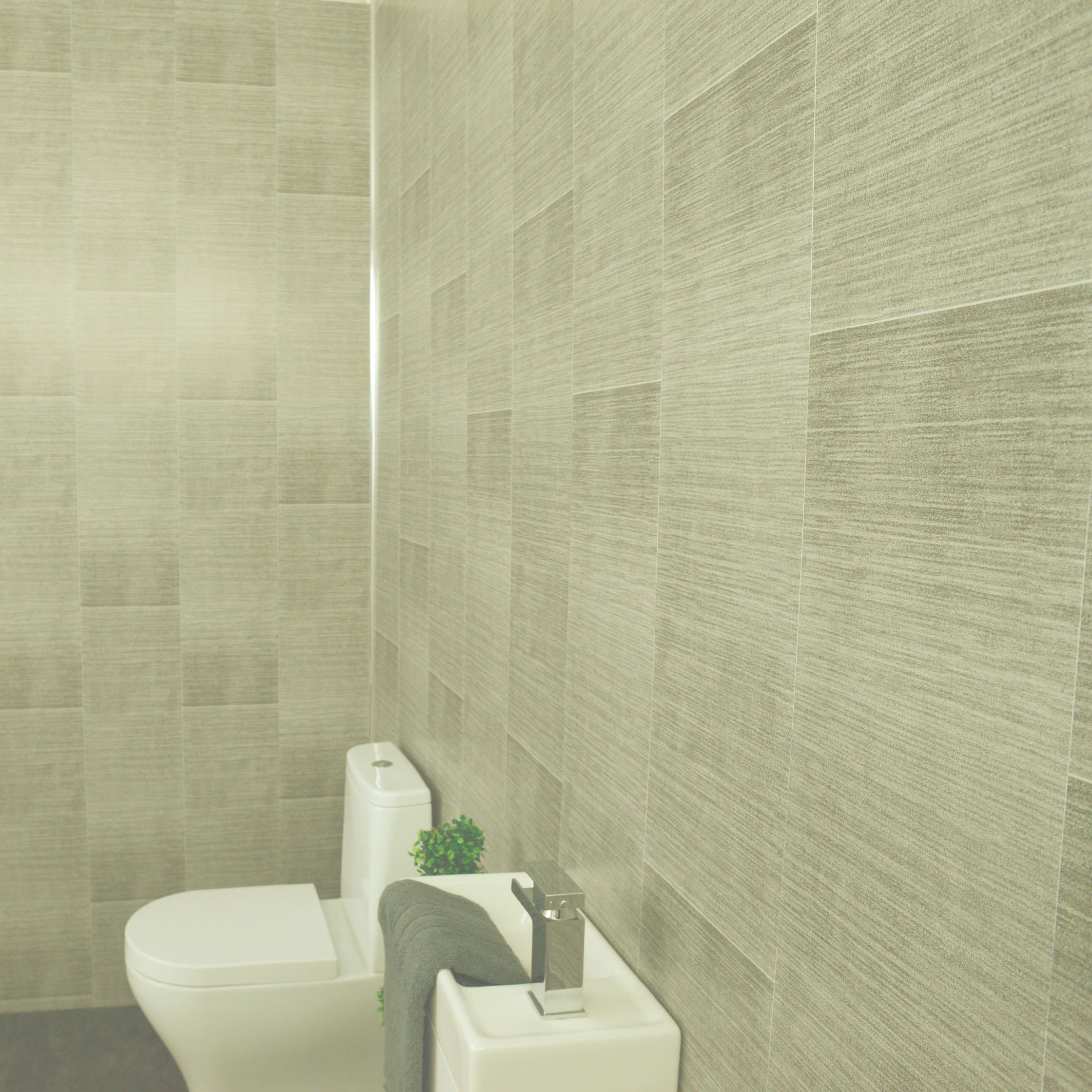Grey Slate Panels & Dark Grey Marble Cladding & Anthracite Tile ...