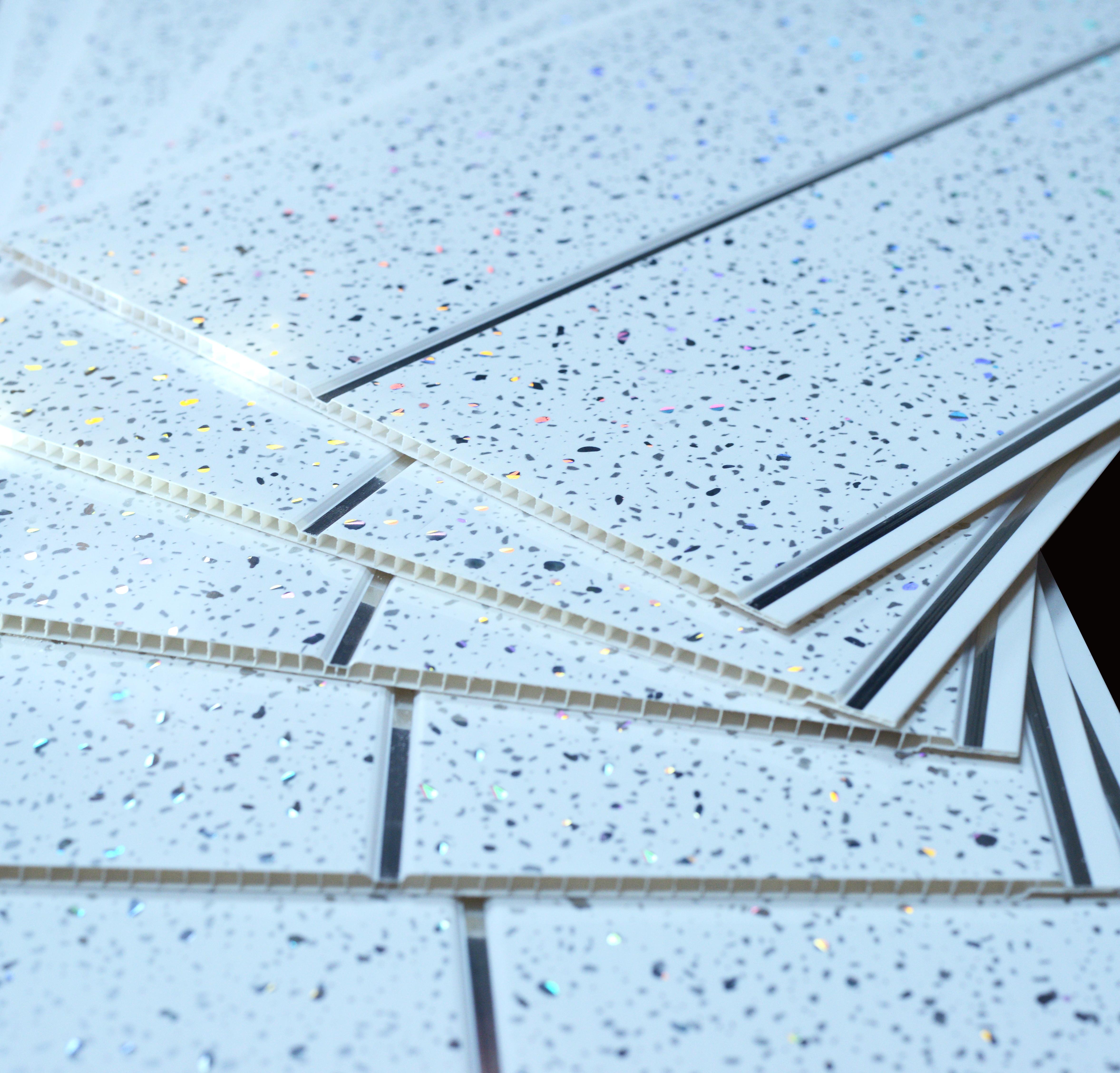 Details about Platinum White Sparkle Chrome Glitter Wall & Ceiling Panels PVC Shower Cladding