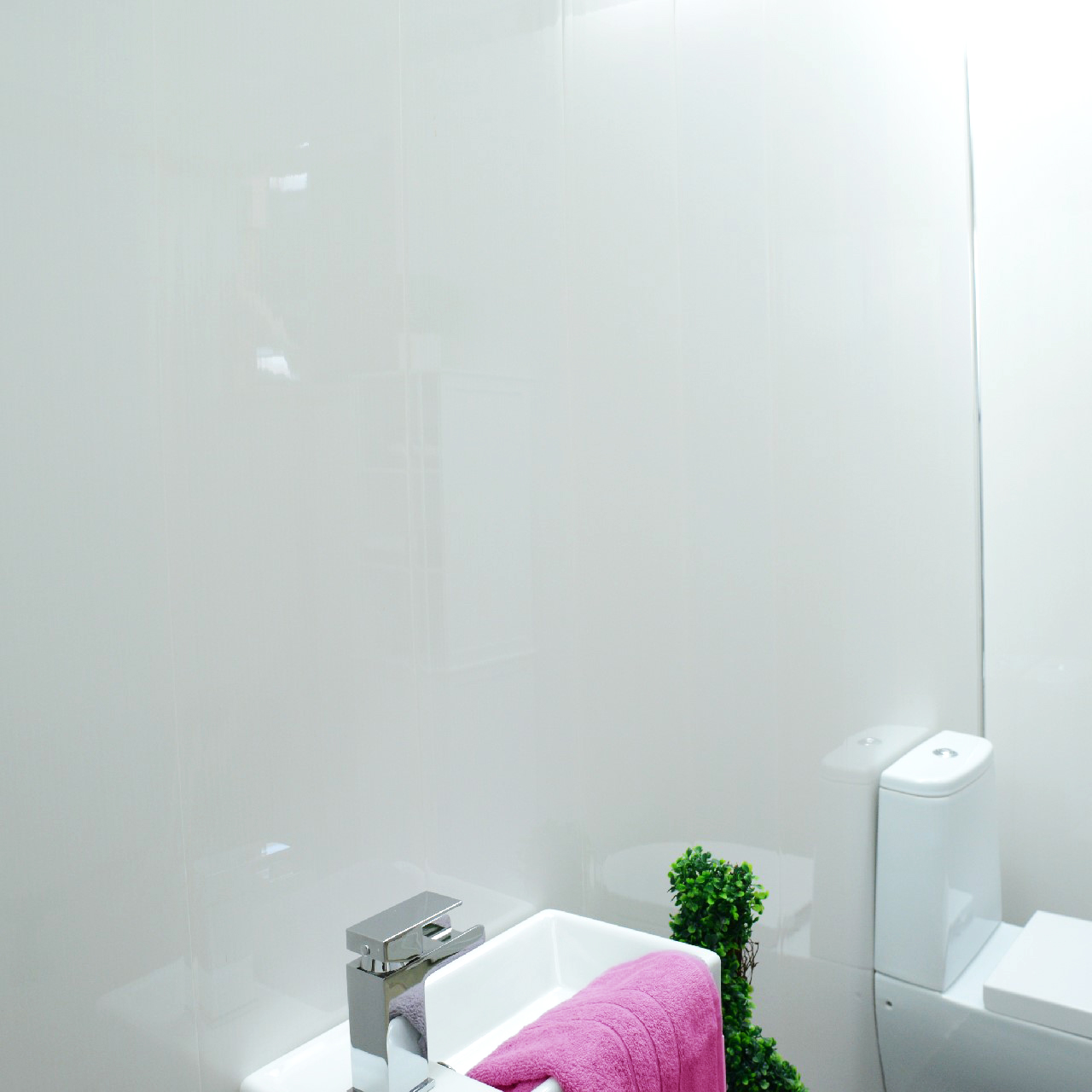 Gloss White Bathroom Panels Ceiling Cladding Shower Wall Kitchen PVC ...