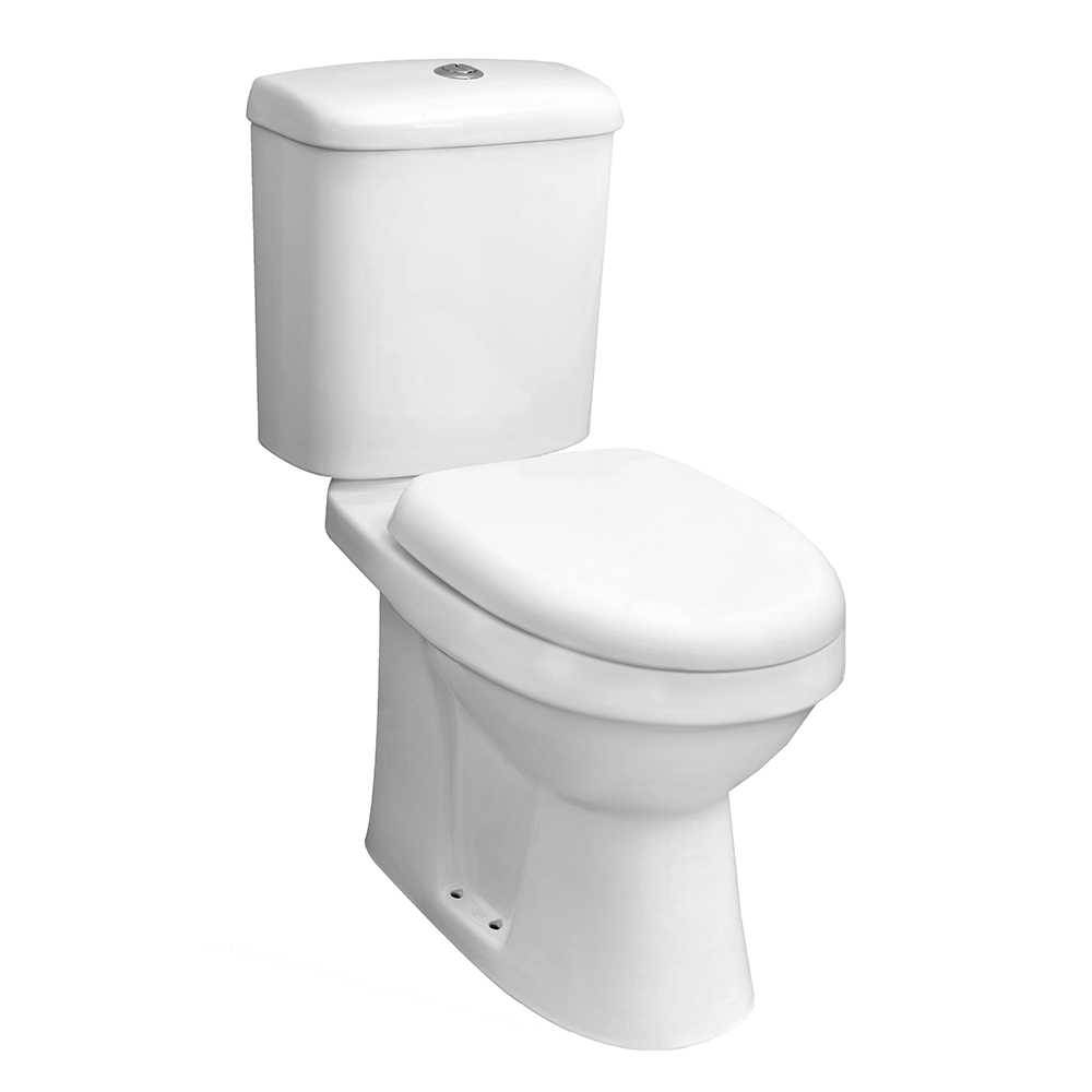 Comfort Height Close Coupled Toilet With Soft Close Seat