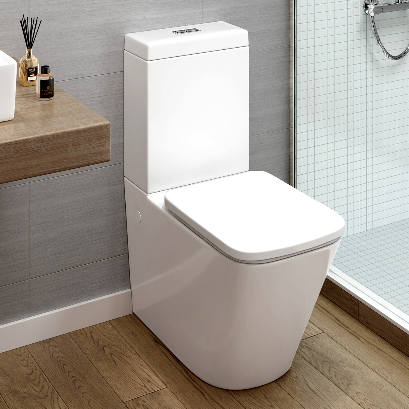 square toliet   brooklyn modern square toilet available at  - square toliet thinktaps modern square white close coupled toilet pan